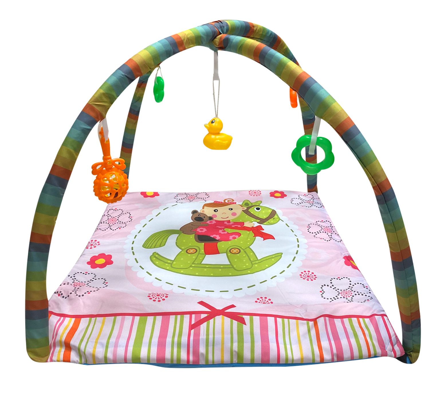 Aybaby Funny Oyuncaklı Bebek Oyun Halısı 80x70 Cm - Sallanan At