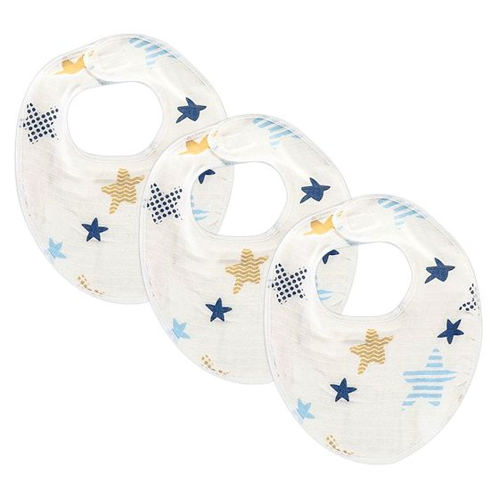 Moje Müslin Önlük 3 Lü - Deniz Yıldızı Mavi