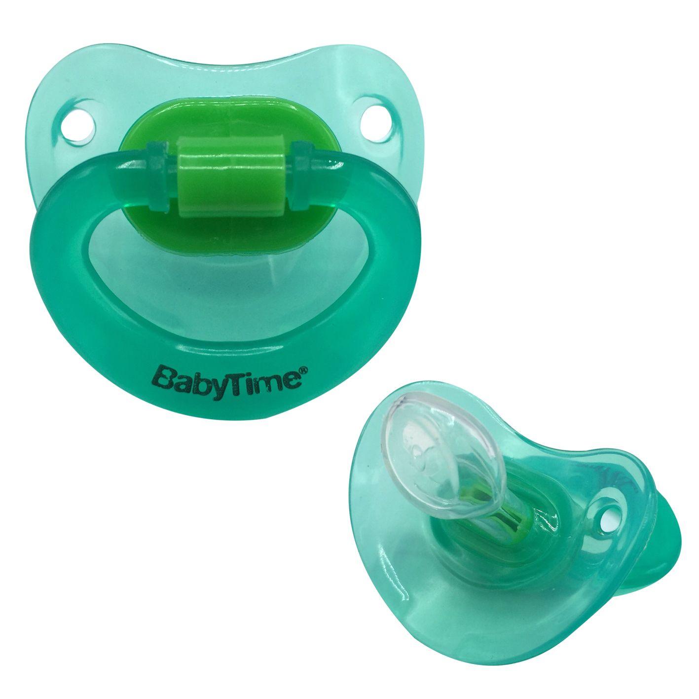 BabyTime BT120 Silikon Damaklı Emzik No 2 - Yeşil