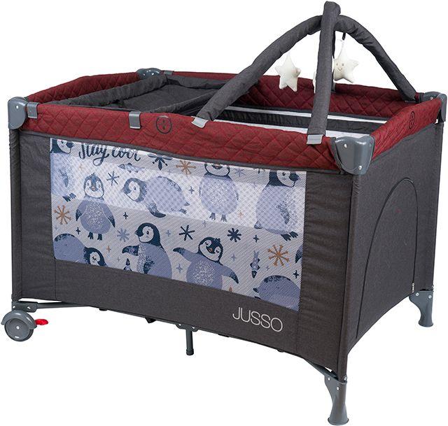 Jusso Dream Soft Keten Oyun Parkı 70x110 Cm - Füme Bordo