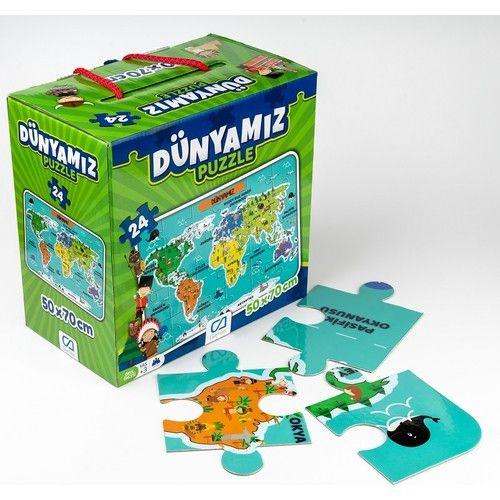 CA Games 5025 Dünyamız 24 Parça Puzzle 50x70 Cm