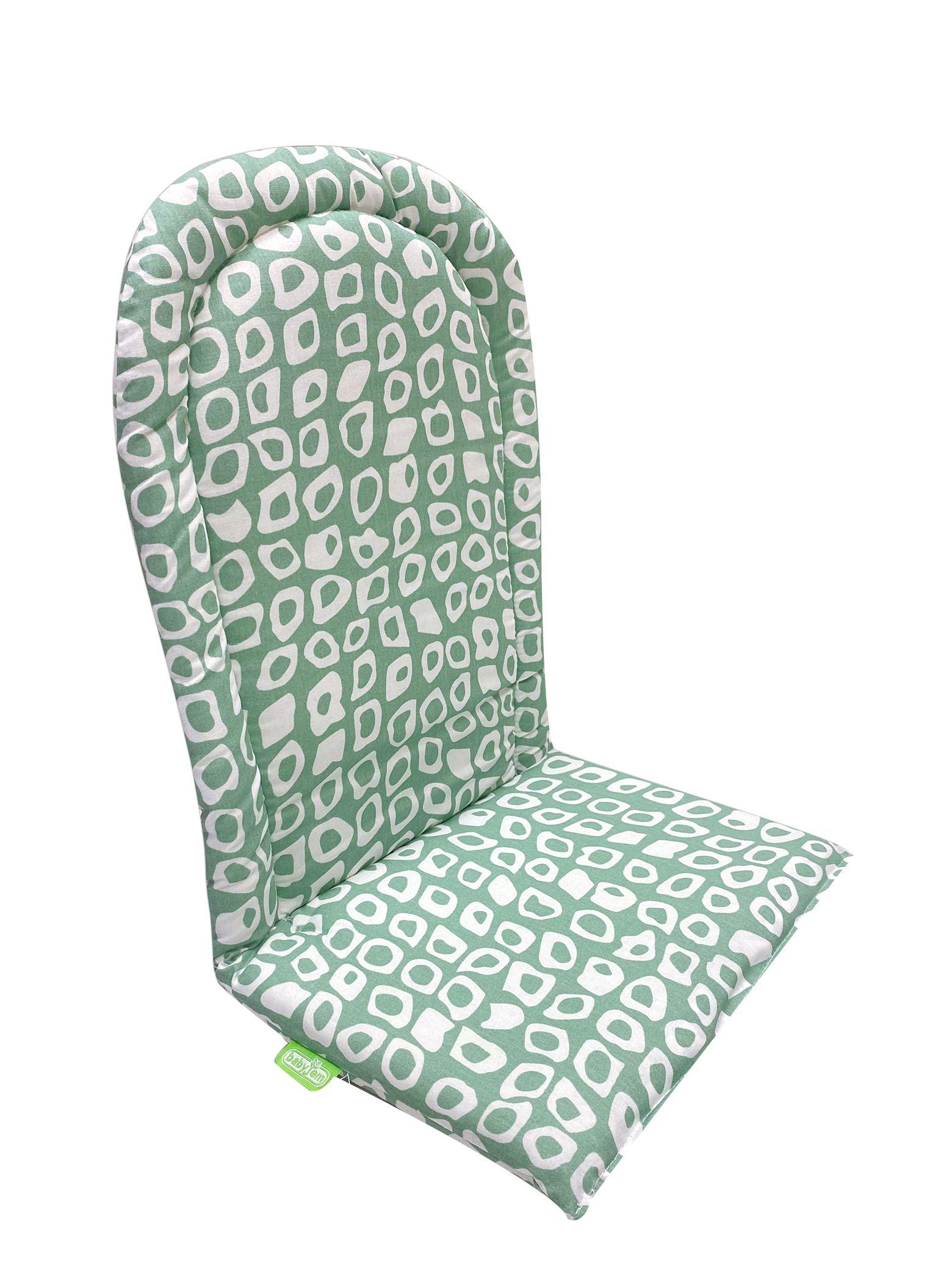 Babyjem Mama Sandalyesi Minderi Yeşil Kareli